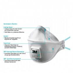 3M masque buccal FFP2 avec valve, 10 pieces