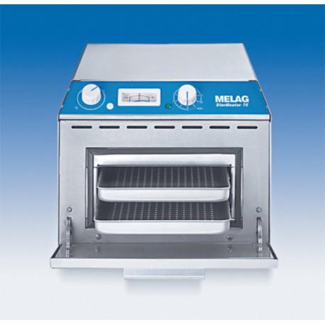 MELAG Stérilisateur à air chaud Type 75 inclus 2 plateaux