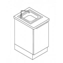 Meuble lavabo de 50 cm avec lavabo