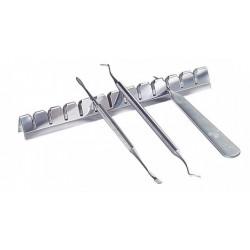 banc port instruments en acier inoxidable