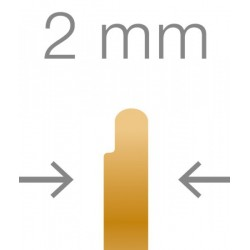 RUCK® Goldstadt ortonyxies avec 2 coté en demi boucle , Gr 12 mm, épaisseur 0,15