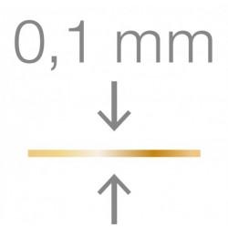 RUCK® Goldstadt ortonyxies avec un coté en demi boucle , Gr 17 mm, épaisseur 0,1