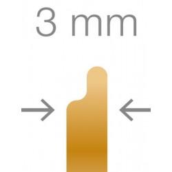 RUCK® Goldstadt ortonyxies avec un coté en demi boucle , Gr 23mm, épaisseur 0,15