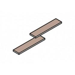 plancher en bois gris beton, 90 x 20 x 3,8 cm