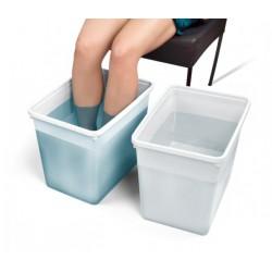 tasse bain pieds blanc, 2 pcs