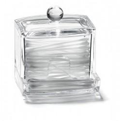 Acryl Organisateur cosmetique pour cottons-tiges 11 x 9 x 5 cm