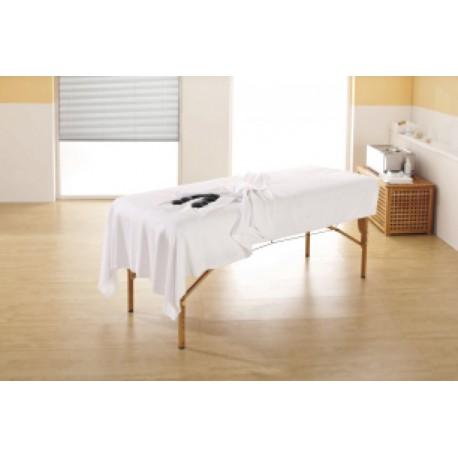 éponge draps blanc 150 x 200 cm