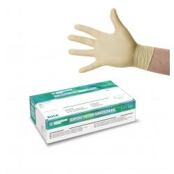 Superstretch gants jetables en latex super elastiques 100 Pcs