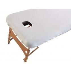 couvre blanc pour table de massage Indéformable et lavable à 60 ° C pour RUCK® Massageliege mobil