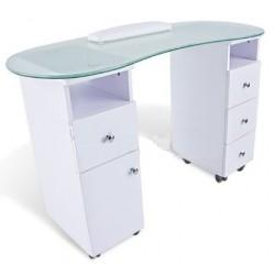 TABLE POUR MANUCURE AVEC DEUX TIROIRS