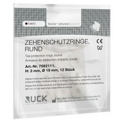 RUCK® feutre rond autoadhesif pour cor , 3 mm
