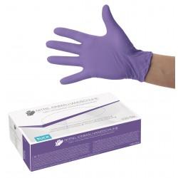 Gants jetables en nitrile violet boite de 100