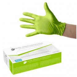 Gants jetables en nitrile vert
